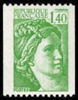 France N° 2157 ** Sabine De Gandon Le 1.40 Fr Vert De Roulette - France