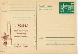 DDR P79-3a-79 C79 Postkarte PRIVATER ZUDRUCK Postmeilensäule Jüterbog 1979 - Post