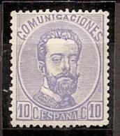 ESPAÑA 1872 - Edifil #121a Sin Goma (*) - Nuevos