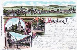 Nr,  810,  AK  Mühltroff Im Vogtland,  Litho, 1900, Plauen Nach Schönberg - Vogtland