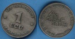 1E Carcassonne 1992. - Variétés Et Curiosités