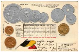 PAVILLON NATIONAL - MONNAYAGE INTERNATIONAL - BELGIQUE - Très Bon état - 2 Scans - Monnaies (représentations)