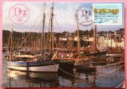 Vieux Gréements, BZ 96, La Fête Des Marins Et Des Bateaux/ 1996 / Photo Recto Verso - Douarnenez