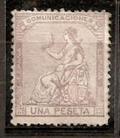 ESPAÑA 1873 - Edifil #138 - MLH * - Nuevos