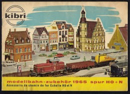 # Booklet KIBRI Modellbahn Zubehor 1965 Spur HO+N Deutsch/Francaise Tren Zug Train Treno - Kataloge
