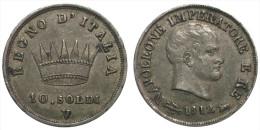10 Soldi 1812 V (Kingdom Of Napoleon) Silver - Napoleoniche