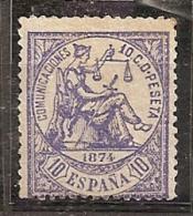 ESPAÑA 1874 - Edifil #145b - MNH ** - Nuovi