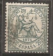 ESPAÑA 1874 - Edifil #146a - VFU - 1873-74 Regencia