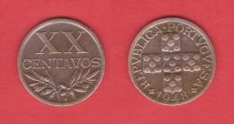 PORTUGAL  XX Centavos  1.948  Bronce  KM#584   MBC/VF   DL-10.693 - Portugal