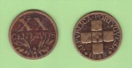 PORTUGAL  XX Centavos  1.948  Bronce  KM#584   MBC-/VF-   DL-10.694 - Portugal