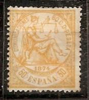 ESPAÑA 1874 - Edifil #149 - MLH * - 1873-74 Regentschaft
