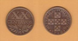 PORTUGAL  XX Centavos  1.949  Bronce  KM#584   MBC/VF   DL-10.695 - Portugal