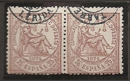 ESPAÑA 1874 - Edifil #147 Fechador De Tarrega - VFU - 1873-74 Regencia