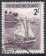 COCOS - 2/- Bateau Oblitéré TTB - Cocos (Keeling) Islands
