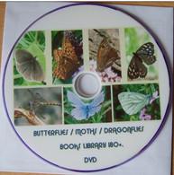 189 BUTTERFLIES, MOTHS, DRAGONFLIES BOOKS Library. DVD - Other