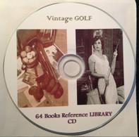 70 GOLF Old Books 1867-1922, Vintage Golf Guide. Reference Library. CD - Deportes