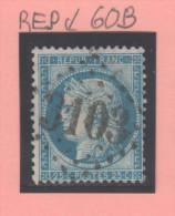 Cérès N° 60B (Variété, E Et P Relié ) Avec Oblitération Losange 3103  TB - 1871-1875 Ceres