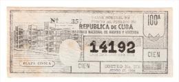 Republica De Cuba - Plaza Civica 1964 - Lottery Ticket - Lottery Tickets