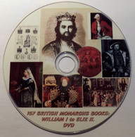 157 WILLIAM I To ELIZABETH II. BRITISH MONARCHS Books Collection. Library. DVD - Books, Magazines, Comics