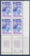 N° 2112 L'Abbaye St Pierre De Solesmes - Coin Daté 28-07-80 - Dated Corners