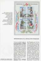 """1989 : Notice Officielle 1er Jour """" PERSONNAGES DE LA REVOLUTION FRANCAISE """". N° YT BF 10 + Prix Dégressif !"""
