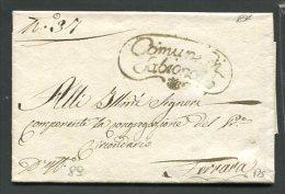 1837   RARA PREFILATELICA DA   SABIONALO    X  FERRARA - 1. ...-1850 Prefilatelia