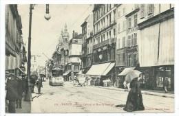 CPA -NANCY -POINT CENTRAL ET RUE SAINT GEORGES -Meurthe Et Moselle (54) -Animée, Commerces -Imprimeries Réunies - Nancy