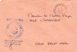 "ECOLE DES FOURRIERS - à Destination SNLE ""INFLEXIBLE"" -CAD 17-ROCHEFORT-FOURRIERS-MA RINE 22/05/1989 - Postmark Collection (Covers)"