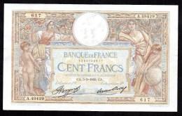 France - 100 Frs   Merson Du 5 09 1935 ( A.49429 )  Cat Fayette N° 24-      état TTB / Sup - 100 F 1908-1939 ''Luc Olivier Merson''