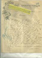 58 - Nièvre - LA MACHINE - Facture BOURDEAU-NARQUIN - Menuiserie – 1924 - France