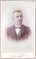 Photo.CDV. Homme Moustachu. Léon Castiaux. Foto. G.Narcisse. Bruxelles. - Photos