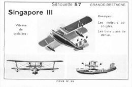 Singapore III - Avion Militaire - Grande-Bretagne - Carte Format Proche CPA - édit; Silhouette N° 57 - (2 Scans) - 1939-1945: 2. Weltkrieg