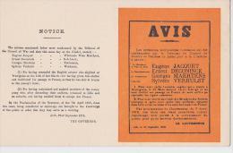 LILLE 1914 PROCLAMATION DU COMMANDANT MILITAIRE ALLEMAND AVIS - Lille