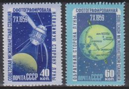 Russie N° 2273 - 2274 *** Photographies De La Face Inconnue De La Lune : Lunik III, Carte Détaillée De La Lune - 1960 - Nuovi
