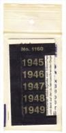 SIGNETTEN, SIGNETTE SAFE 1945/9. - Timbres