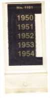 SIGNETTEN, SIGNETTE SAFE 1950/4. - Autre Matériel