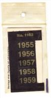 SIGNETTEN, SIGNETTE SAFE 1955/9. - Timbres