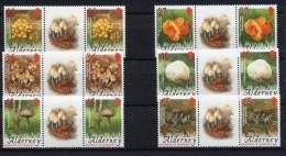 2004 Alderney Se-tenant MNH  Mushrooms / Setas / Champignons / Pilze - Pilze