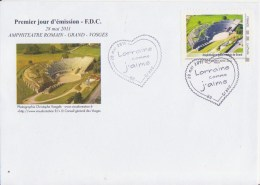 ** AMPHITHEATRE (Amphitheater) ROMAIN DE GRAND (Vosges)  ** 1er Jour Du Timbre à Moi -  FDC FRANCE 28 Mai 2008 - Archaeology