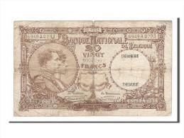 Belgique, 20 Francs Type Albert Et Elisabeth - [ 2] 1831-... : Koninkrijk België