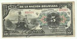 Bolivia 5 Bolivianos 1911 - Bolivia