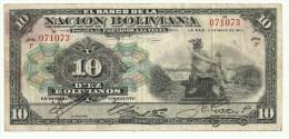 Bolivia 10 Bolivianos 1911 - Bolivia