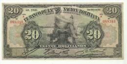 Bolivia 20 Bolivianos 1911 - Bolivia