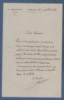 52 HAUTE MARNE - LETTRE DATEE DE 1921 E. BENOIST NOTAIRE A ANDELOT - Manuscripts