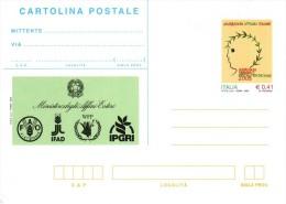 Cartolina Postale C 255  Giornata Dell'alimentazione Nuova - 6. 1946-.. Republic
