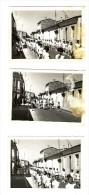 EYSINES  Fête De La Jeunesse  12 Juin 1960 Avenue Libération Défilé écoles Et Fanfare 3 Photos - Places
