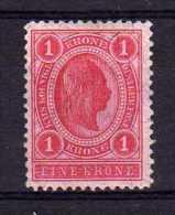 Austria - 1899 - 1 Krone (Perf 12½) - MH - 1850-1918 Empire