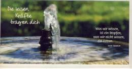 WASSER, SPRINGBRUNNEN, Weisheit Von Isaac Newton     Spezial Format - Fotografie