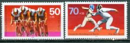 BERLIN - Komplettsatz Mi-Nr. 567 - 568 Sporthilfe Radsport Fechten Postfrisch - [5] Berlin