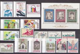 Ok_ Liechtenstein -  Jahrgang 1988 - Komplett Complete  - Postfrisch MNH - Annate Complete